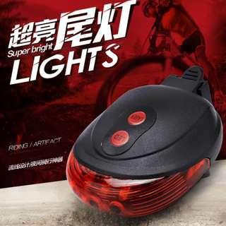 自行車燈 激光尾燈 腳踏車警示尾燈 單車煞車燈 LED尾燈 騎行裝備配件