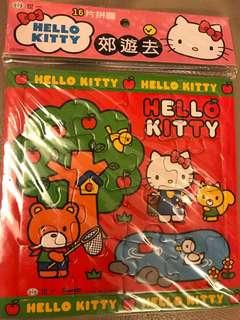 16塊拼圖Hello Kiity紅