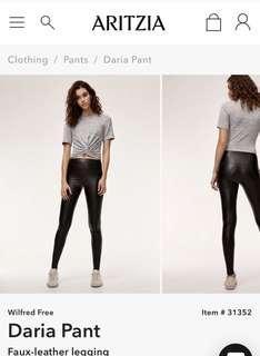Aritzia Wilfred Daria Pants