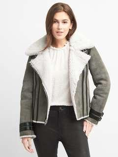 Gap Suede Shearling Jacket Size M