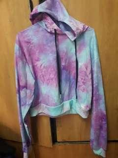 Zaful Tie dyed cropped hoodie SALE
