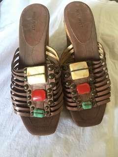 Authentic nine west sandals wedge