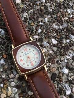🚚 [特殊單] 深棕色手錶與世界地圖錶