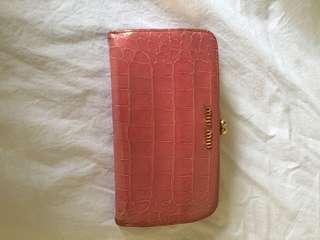 Authentic miu miu croc leather wallet