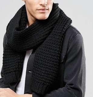 Winter knitted scarf/muffler
