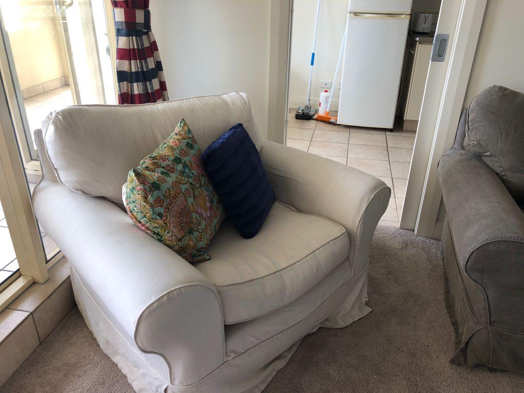 100% linen, down filled armchairs