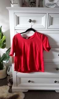 Red crop top (oversized )