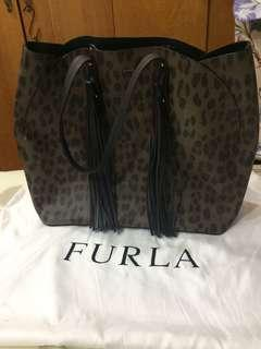 BN Authentic Furla LE leopard big tote (fast deal $280)