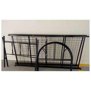 Metal Bed frame ($12/set- Self Collection Clementi)