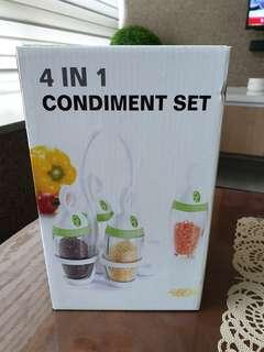 New - 4 in 1 Condiments Set
