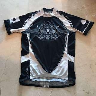 M sized small cutting Ace of spades cycling jersey