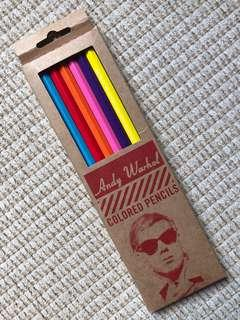 Andy Warhol colour pencils