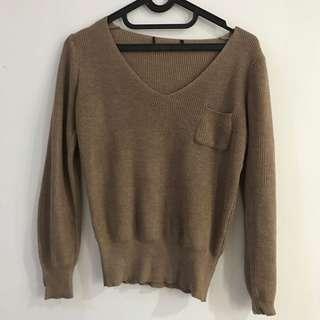Sweater rajut (mocca)