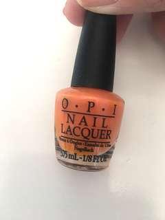 OPI 指甲油 橙色