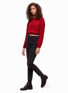 Aritzia wilfred free bekah blouse in red, sz s
