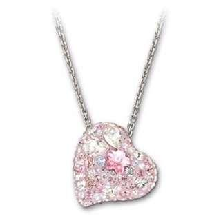 Swarovski Pink Heart Pendant Necklace