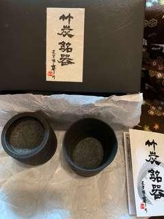 日本制 竹炭銘器