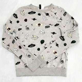 Sweater Grey Gray Abu Abu HnM HM H&M Jual Rugi Murah