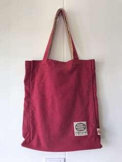 Teddy Tales Red Cloth Tote Bag