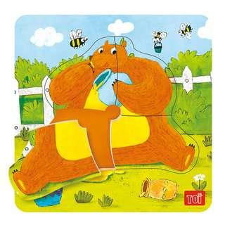 TOI Wooden Puzzle Educational Toy Bear Puzzle