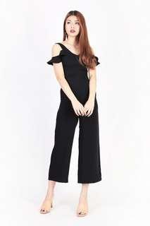 Mgp Pippa Flutter Jumpsuit in Black - Size XS