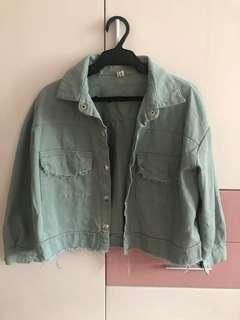 Denim jacket crop top