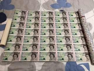 Extremely Rare - 1997 Hong Kong England 5 Pounds Uncut 35-in-1