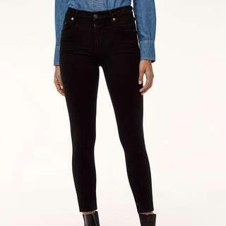 Citizens of Humanity Rocket Crop All Black (size 26)