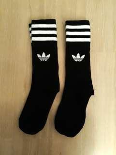 Adidas Originals Crew Trefoil Logo Long Socks