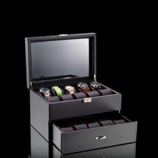 Carbon Fibre Luxury Watch Box for 20 Watches