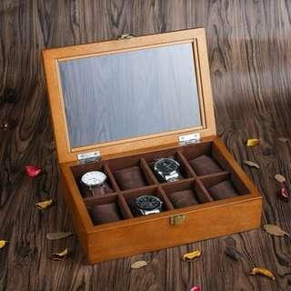 Wooden Luxury Watch Box for 8 Watches