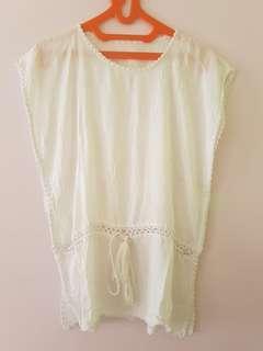 White Top / Baju pantai / Bikini Outer