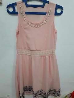Peach pearl dress