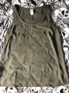 Kmart khaki green loose fitting top