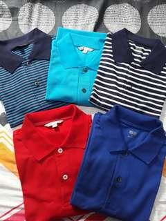 Uniqlo dry pique polo shirt