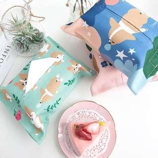 🚚 🐕 Corgi Tissue Box Cover 🐾