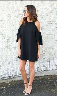 Black dress with summer sleeve