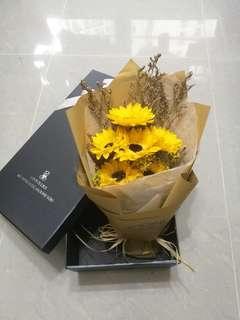 番梘花向日葵花束