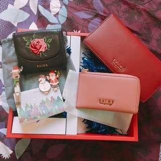 東京企劃Saime 真皮系列皮夾+卡夾(零錢袋)
