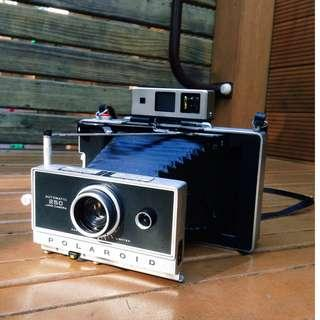 Polaroid 寶麗來 250 蛇腹撕拉片相機 含閃光燈