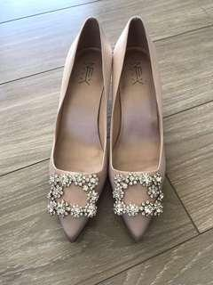 Rose Gold Jewel Heels for sale