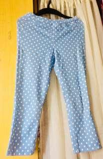 Uniqlo polka dotted jeggings
