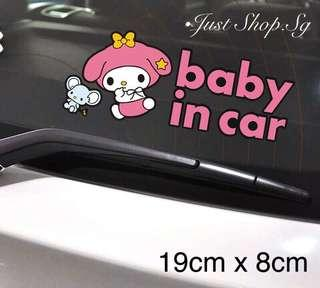 M2- Melody Baby In Car Decal/Sticker