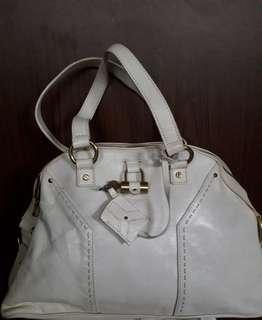 YSL Meduim Shoulder Bag White Nego