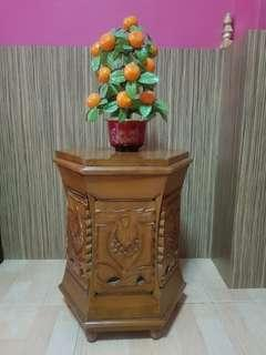 Carved Indonesian Bali Zen Side Table