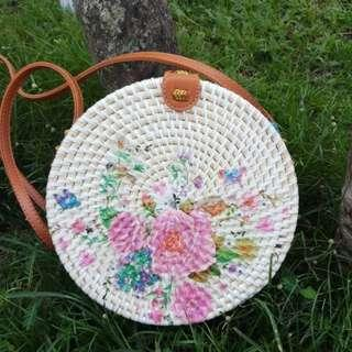 Rattan Bag Flowers 2