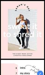 Sarah's day - sweat it to shred it
