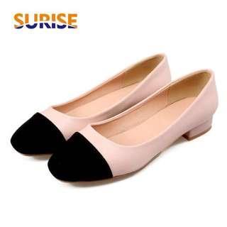 Low Block Heel Square Toe Pumps Shoes