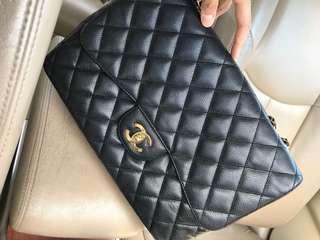 100% Authentic Chanel Jumbo Caviar single flap
