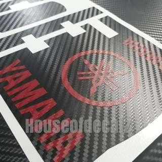 Iu 3D Black Carbon Fibre Wrap with 'Yamaha 3D carbon Logo & Name'